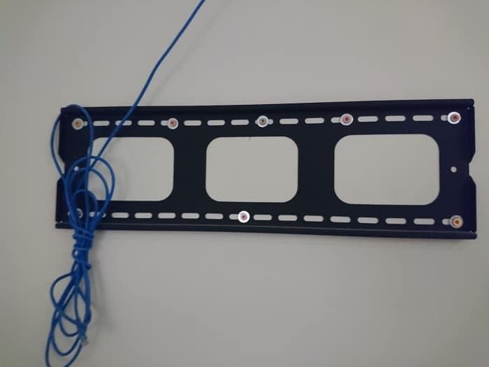 Flush Mount TV Bracket Installed On A Wall
