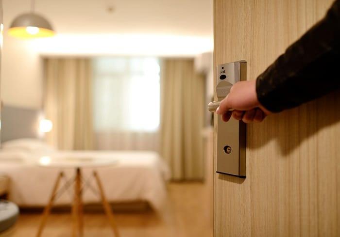 Opening Door In Bedroom