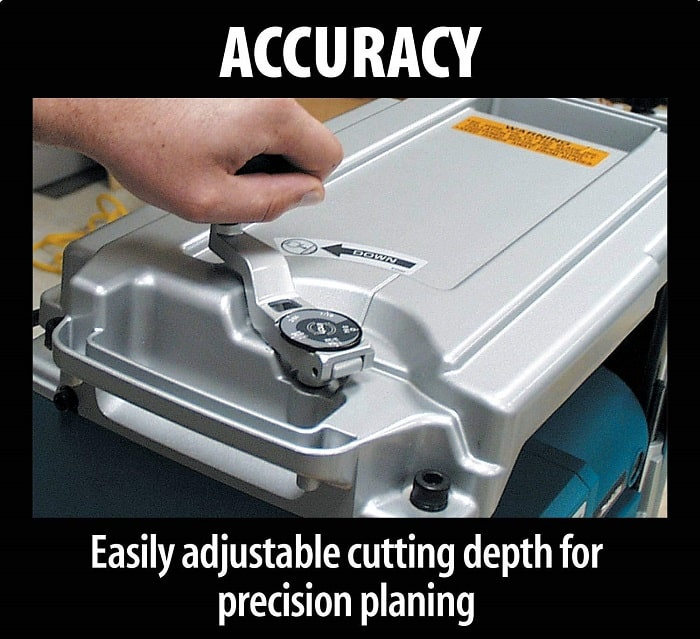 Setting The Makita Thickness Planer To Depth