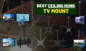 Best ceiling TV stand | TV pole mounting