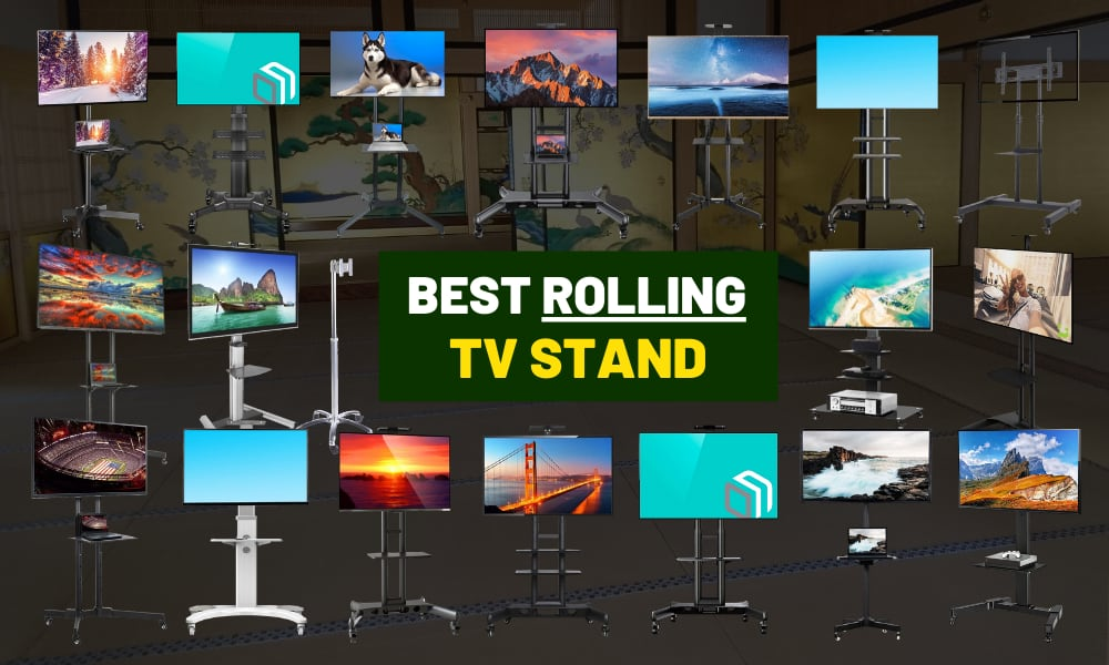 Best portable TV stand on rolling wheels