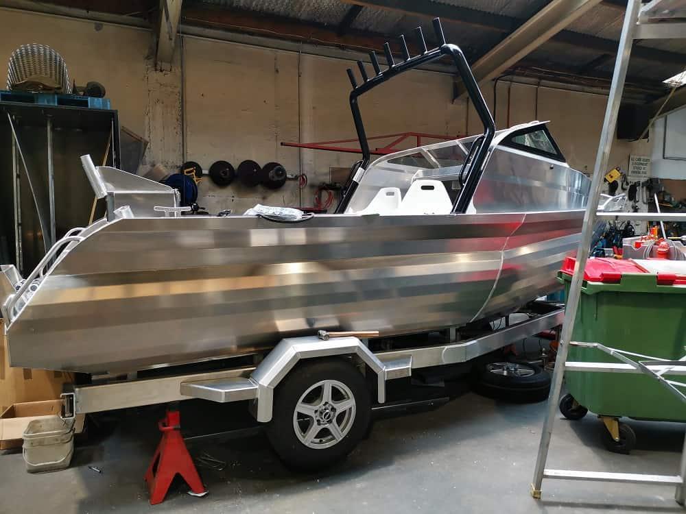 Boat in a big garage