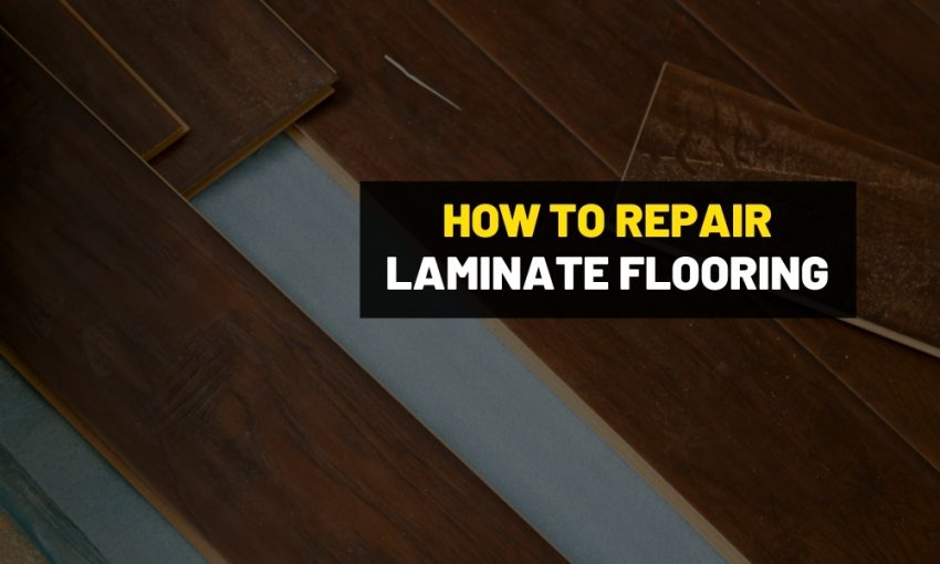 How to repair swollen laminated flooring?