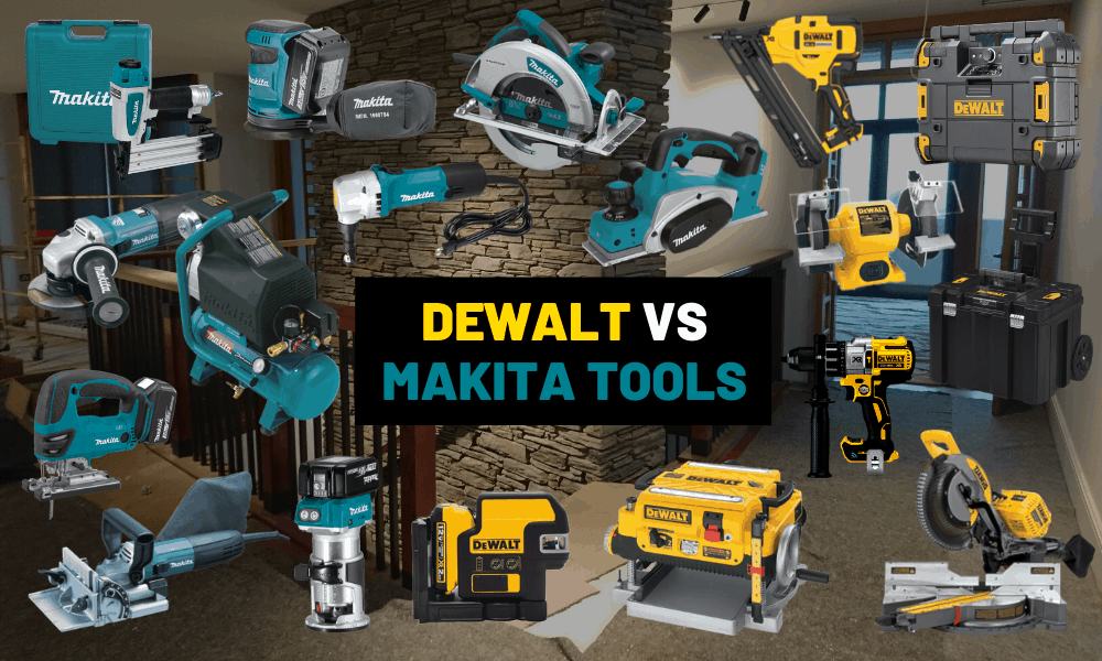 Dewalt vs Makita tools: List of tools and the best brand