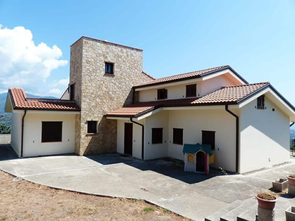 New house with tile roof