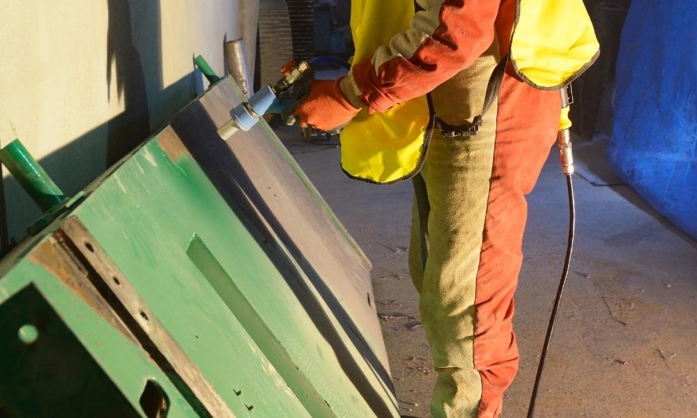 Sandblasting paint