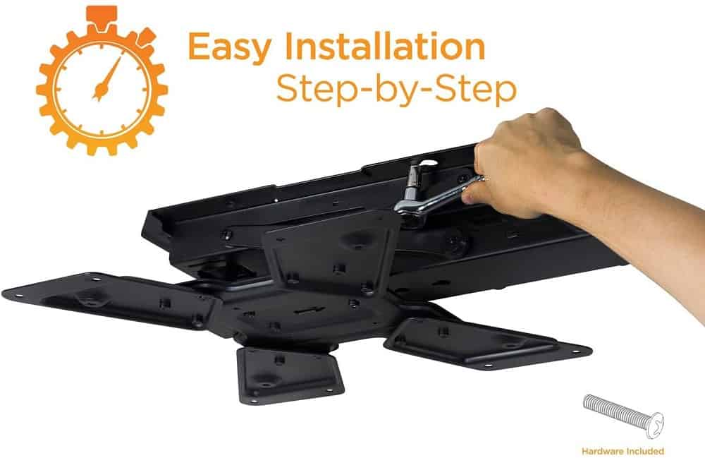 Fixing a moterized tv mount to the ceiling