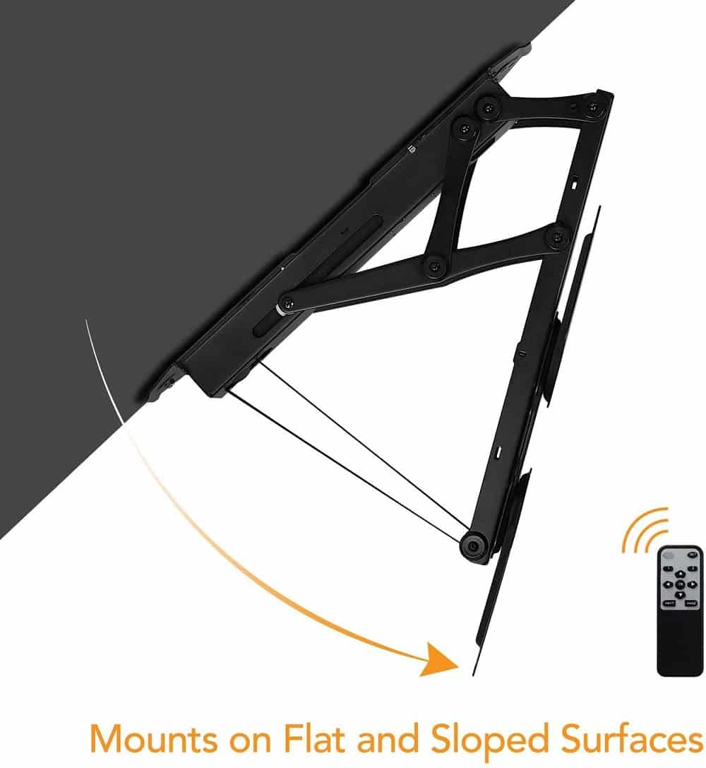 Flipdown Tv ceiling mount with remote control