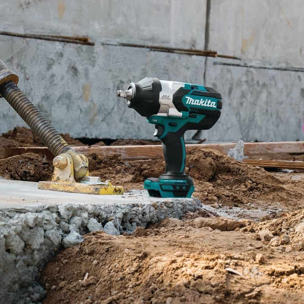 Makita cordless impact wrench on building site