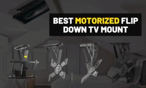 Best motorized ceiling tv mount [Flip down TV]