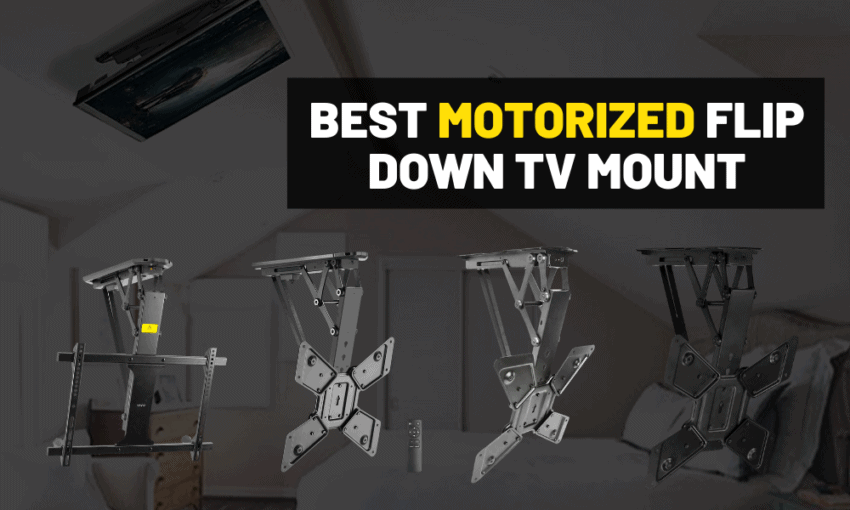 Motorized flip down ceiling tv mount review