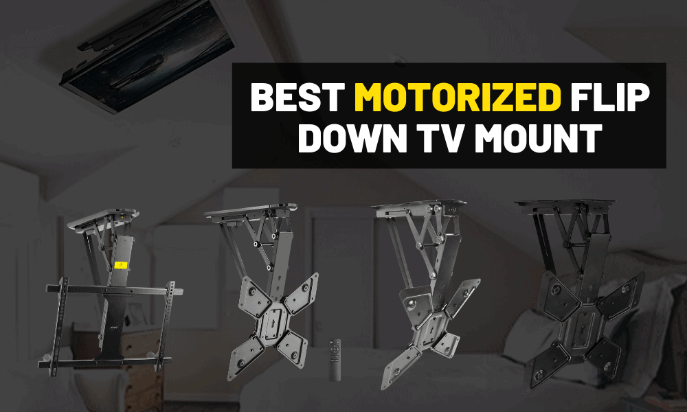 Best motorized ceiling tv mount [Flip down TV]