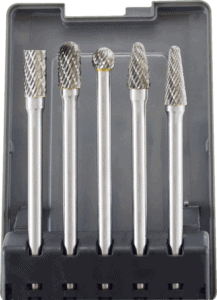 Astro Pneumatic 5 pcs 1 8 inch shank double cut tungsten carbide burr bits