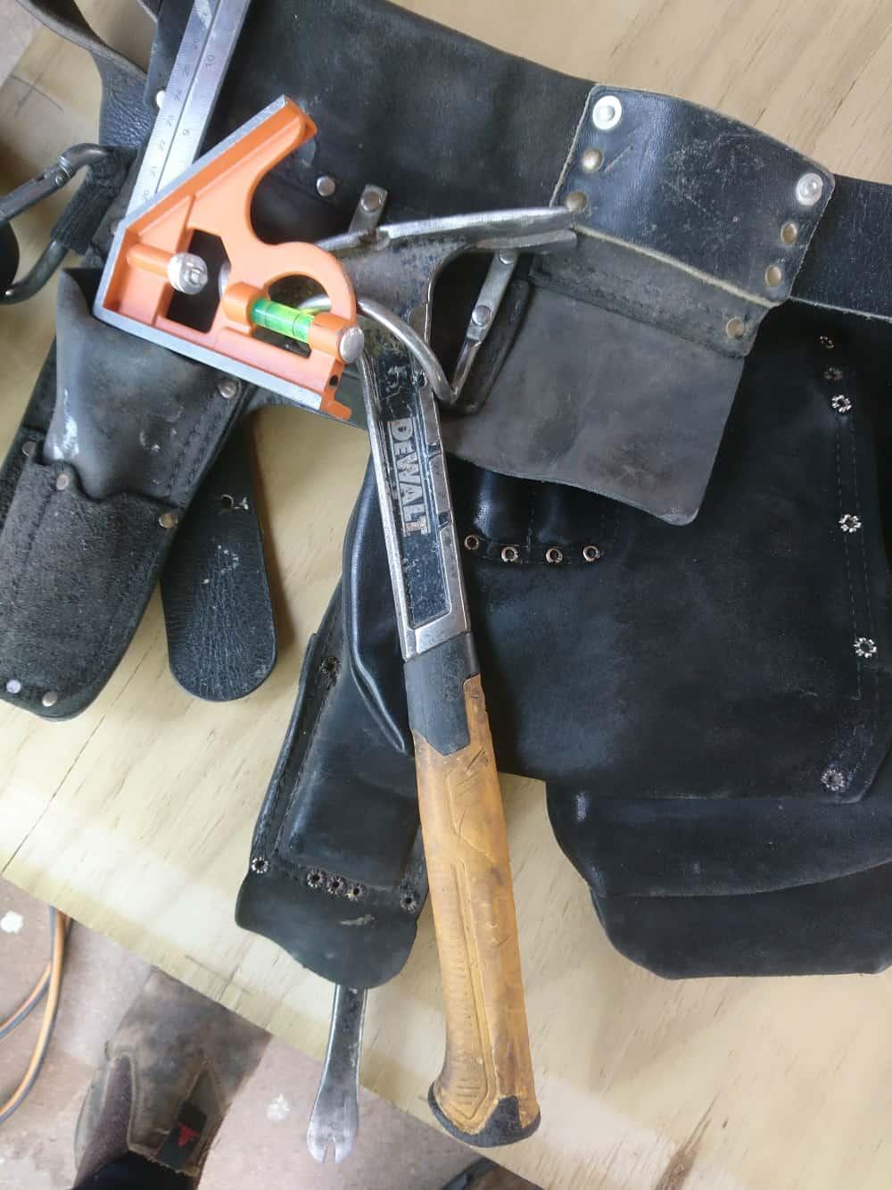 Builders leather tool belt
