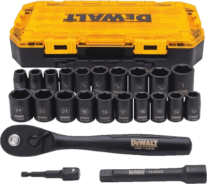 DeWalt DWMT74739 23 pcs 1 2 in SAE metric impact socket sets