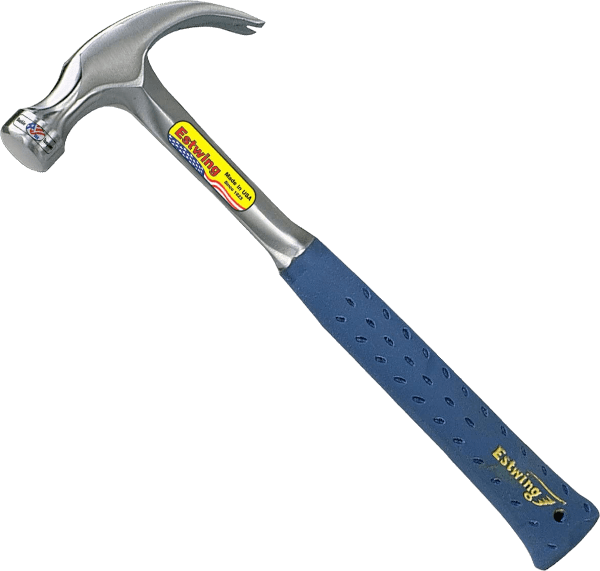 Estwing E3 12C 12 oz 11 inch handle smooth faced curved claw hammer