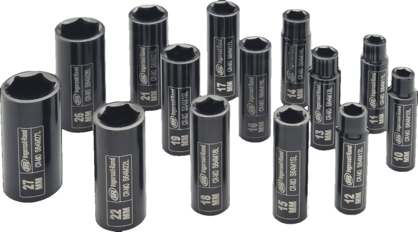 Ingersoll Rand SK4M14LN 14 pcs 1 2 in metric impact socket set