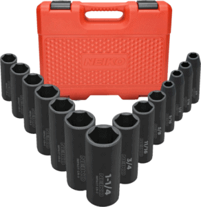 Neiko 02476A 14 pcs 1 2 in SAE impact socket set