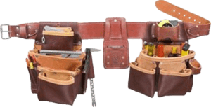 Occidental leather 5089 22 pockets 29 to 54 inches belt top grain leather tool belt