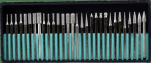 SE 30 pcs 1 8 inch shank 80 grit titanium coated engraver bits