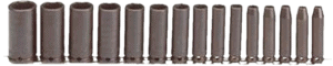 Stanley Proto J72116 15 pcs 3 8 in SAE impact socket set