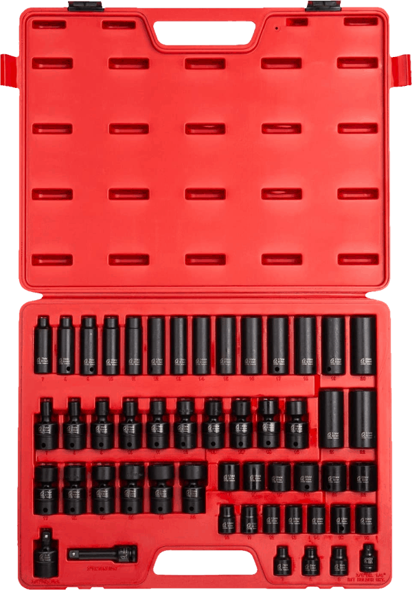 Sunex 3351 50 pcs 3 8 in metric impact socket set
