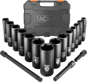 Tacklife HIS2A 14 pcs 1 2 in SAE impact socket set