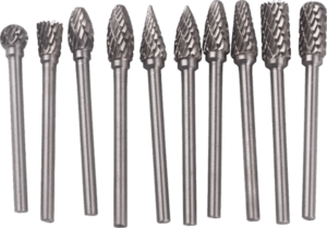 Yosoo 10 pcs 1 8 inch shank double cut tungsten carbide burr bits1