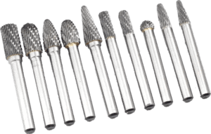 Yufutol 10 pcs 1 4 inch shank double cut solid carbide burr bits