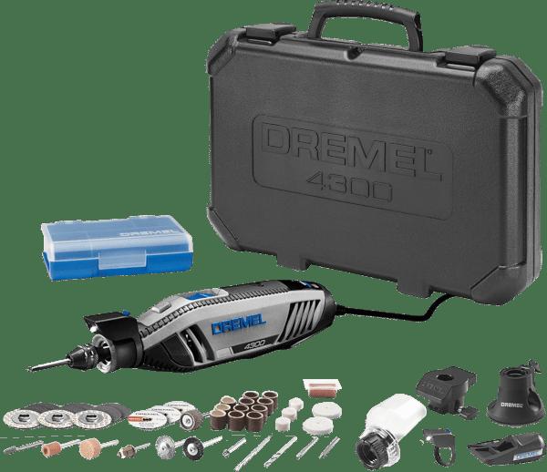 Dremel 4300 5 40 40 pcs 5 000 to 35 000 rpm 1 8 amp rotary tool kit