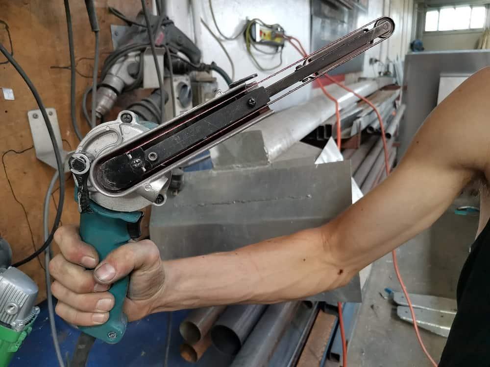 File belt sander in Bangingtoolbox workshop
