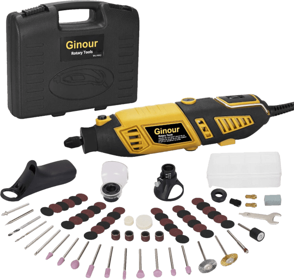 Ginour 111 pcs 8 000 to 35 000 rpm 1 5 amp rotary tool kit