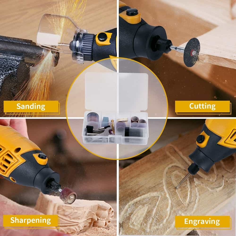 Ginour rotary tool kit