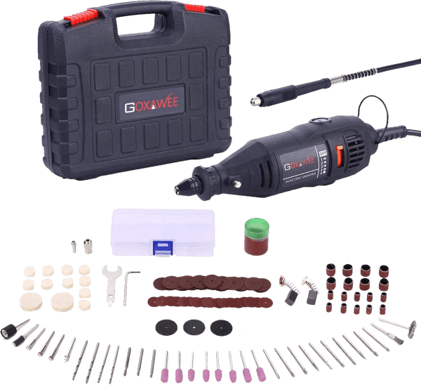 Goxawee G4007 140 pcs 8 000 to 30 000 rpm 1 1 amp rotary tool kit