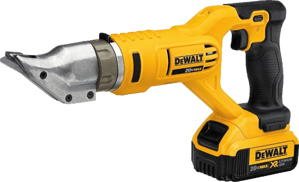 DeWalt DCS491M2 cuts up to 20 GA SS 20V double cut metal shears kit