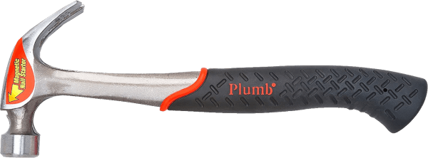 Plumb SS20CN 20oz 14 inch handle smooth faced solid steel hammer