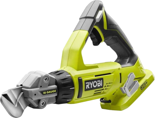Ryobi P591 cuts up to 18GA SS 18V off set shears
