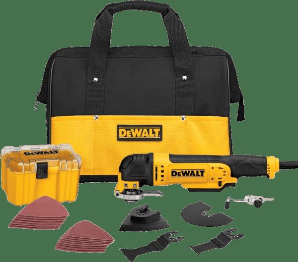 DeWalt DWE315K with DWA4216 34 pcs 0 22 000 opm 3 amp oscillating multi tool kit