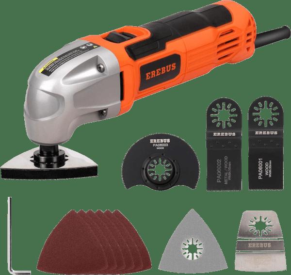 Erebus 86221 11 pcs 0 22 000 opm 1 5 amp oscillating multi tool kit