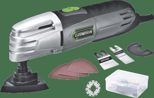Genesis GMT15A 19 pcs 21 000 opm 1 5 amp oscillating multi tool kit