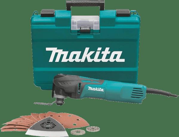 Makita TM3010CX1 16 pcs 6 000 to 20 000 opm 3 amp oscillating multi tool kit