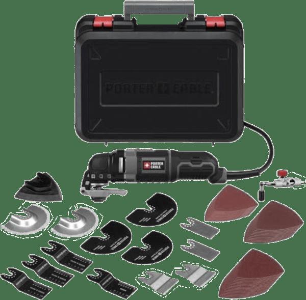 Porter Cable PCE605K52 52 pcs 10 000 to 22 000 opm 3 amp oscillating multi tool kit