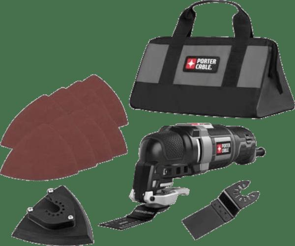 Porter Cable PCE606K 11 pcs 10 000 to 22 000 opm 3 amp oscillating multi tool kit