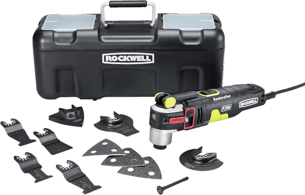 Rockwell RK5151K Sonicrafter F80 10 pcs 10 000 to 19 000 opm 4 2 amp oscillating multi tool kit