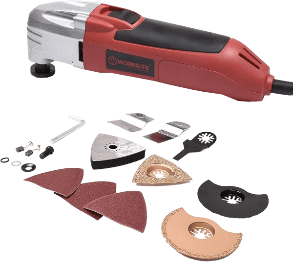 Worksite DMT123 11 pcs up to 23 000 opm 1 6 amp oscillating multi tool kit