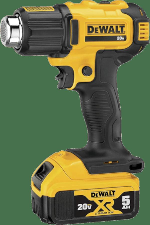 DeWalt DCE530P1 990 °F 20V cordless heat gun kit 1