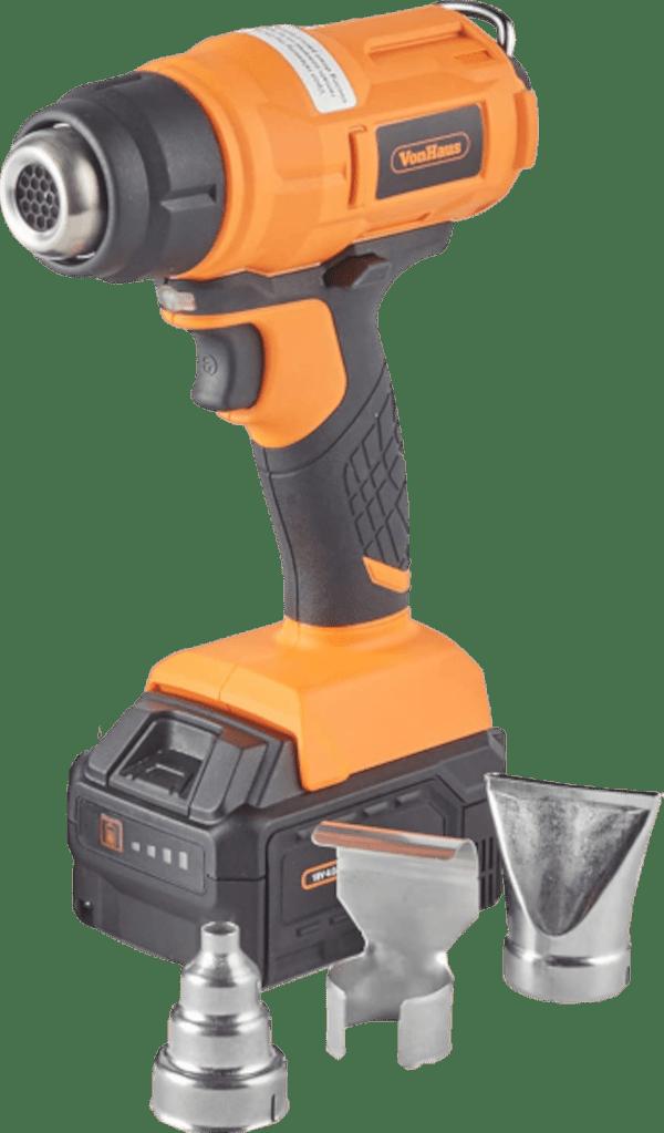 Von Haus 932 °F 18V cordless heat gun kit 1