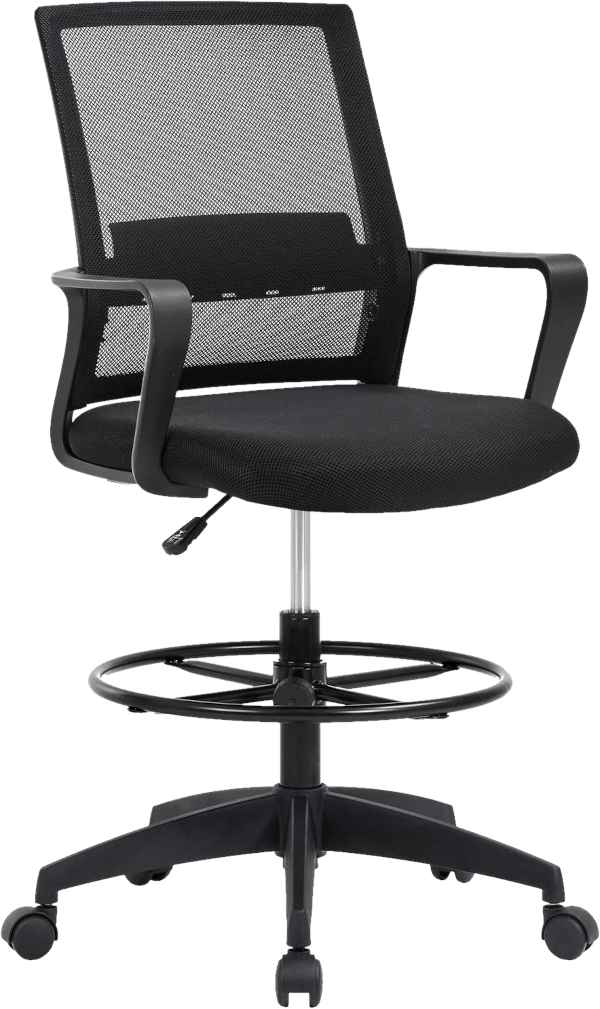 Best office OC DF846 250 lbs mesh seat nylon loop arm drafting chair