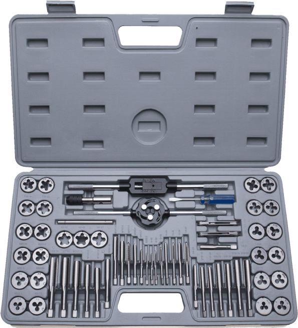 Efficere 60 pieces SAE metric alloy steel tap and die set