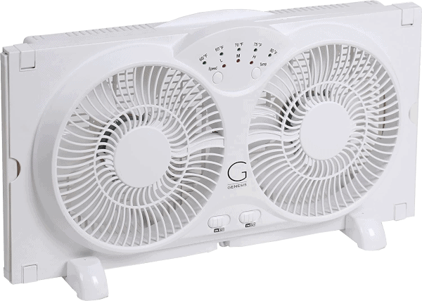 Genesis A1 9 inches 3 speed up to 37 inches wide twin window fan
